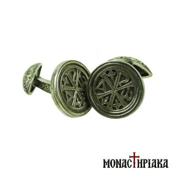 Silver Cufflinks with Christogram