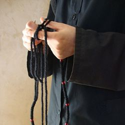 "Prayer ropes from Mount Athos is a blessing from a holy place. In each knot we call upon the name of the Lord Jesus by saying the short prayer ""Lord Jesus Christ, Son of God, beg me""."