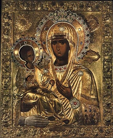 Virgin Mary Tricherousa - Holy Monastery Hilandar